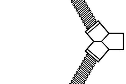 Schlauchgabel für Doppelauspuffanlagen